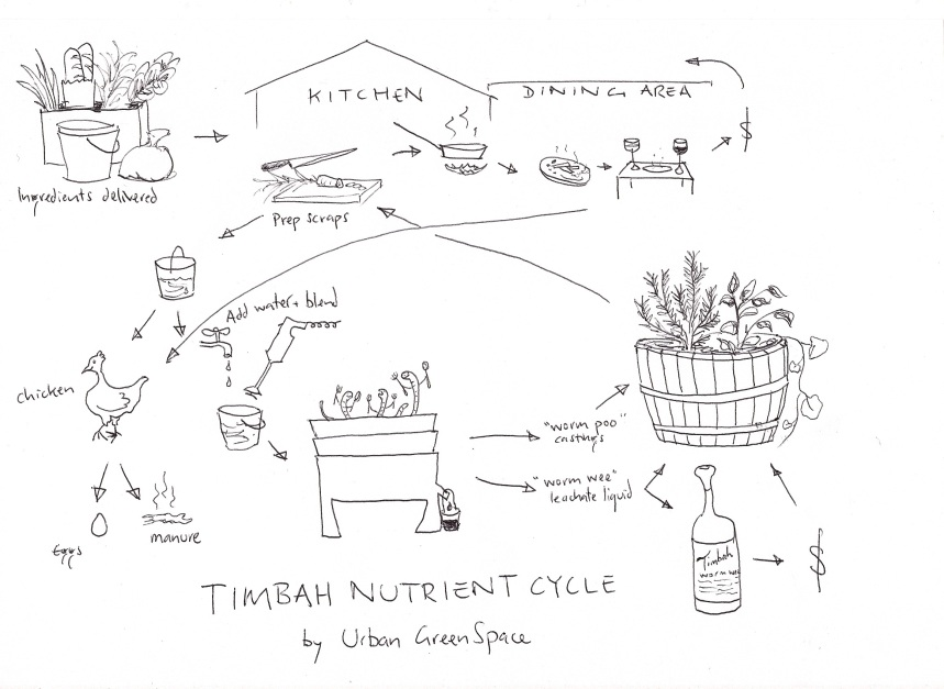a diagram of the Timbah nutrient cycle